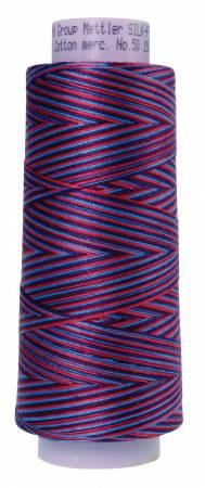 Silk Finish Variegated 50wt Cotton Thread 1500yd/1372M Berry Rich