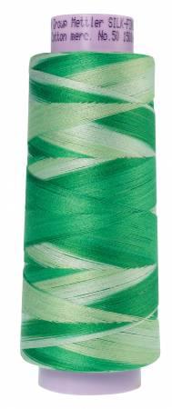 Silk Finish Variegated 50wt Cotton Thread 1500yd/1372M Minty