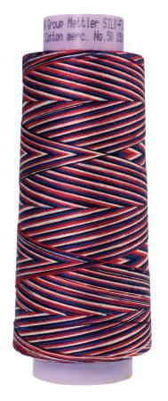 Silk Finish Cotton Mult 50 1500yds 9090-9823 Patriotic