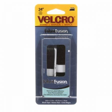 VELCRO? Brand Fastener Fabric Fusion Black 3/4in x 24in