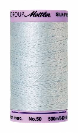 Silk-Finish 50wt Solid Cotton Thread 547yd/500M Starlight Blue #0039