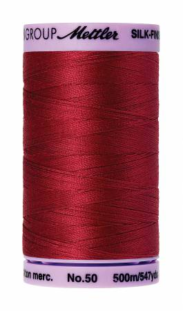 Mettler, Silk-Finish Cotton Thread, 500M, Fire Engine