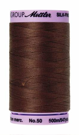 Silk-Finish 50wt Solid Cotton Thread 547yd/500M Friar Brown #0173