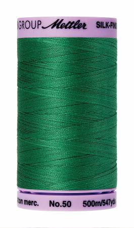 Silk-Finish 50wt Solid Cotton Thread 547yd/500M Kelley