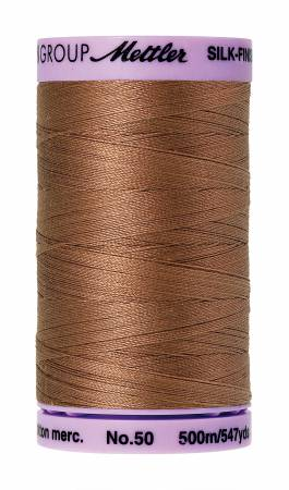 Mettler 50wt Solid Cotton Thread 547yd/500M Walnut #9104-0280