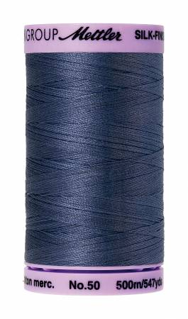 Silk-Finish 50wt Solid Cotton Thread 547yd/500M Blue Shadow