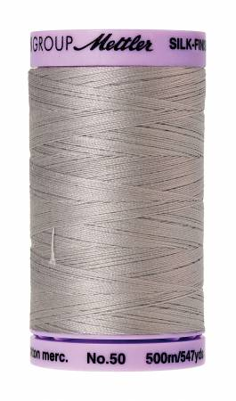 Silk-Finish 50wt Solid Cotton Thread 547yd/500M Ash Mist