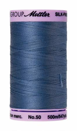 Mettler 50wt Solid Cotton Thread 547yd/500M Smoky Blue #9104-0351