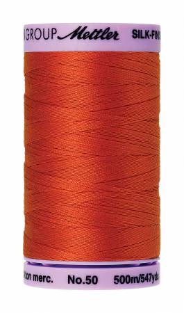 Silk-Finish 50wt Solid Cotton Thread 547yd/500M Paprika
