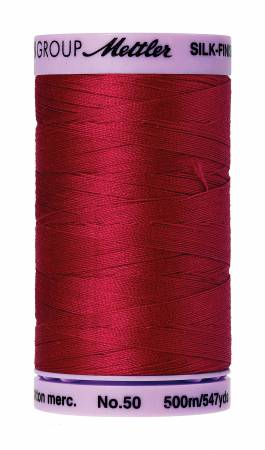 Silk-Finish 50wt Solid Cotton Thread 547yd/500M Country Red
