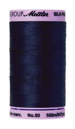 0825 -  Mettler Silk-Finish 50wt Solid Cotton Thread 547yd/500M Navy