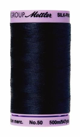 Silk-Finish 50wt Solid Cotton Thread 547yd/500M Dark Blue