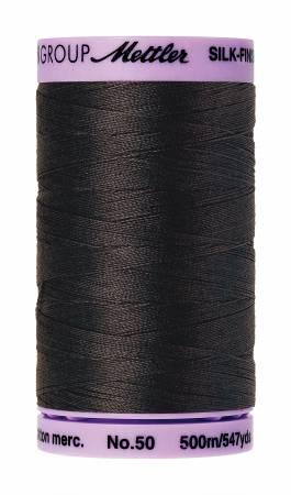 Silk-Finish 50wt Solid Cotton Thread 547yd/500M Charcoal #1282