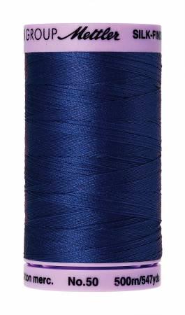 Silk-Finish 50wt Solid Cotton Thread 547yd/500M Royal Blue #1303