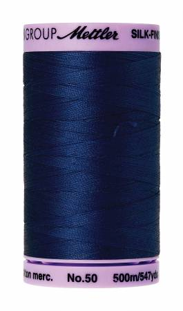 Silk-Finish 50wt Solid Cotton Thread 547yd/500M Imperial Blue