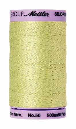 Silk-Finish 50wt Solid Cotton Thread 547yd/500M Spring Green #1343
