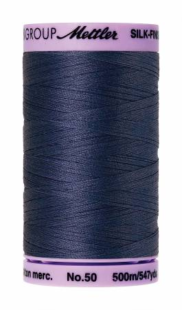 Mettler 50wt Solid Cotton Thread 547yd/500M True Navy #9104-1365