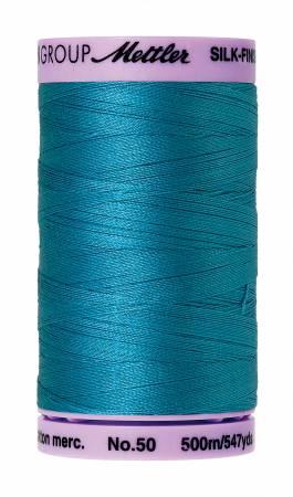 Mettler, Silk-Finish Cotton Thread, 500M, Caribbean Blue