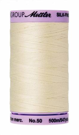 Silk-Finish 50wt Solid Cotton Thread 547yd/500M Antique White #3612