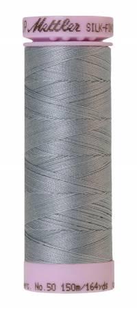 Silk-Finish 50wt Solid Cotton Thread 164yd/150M Ash Blue