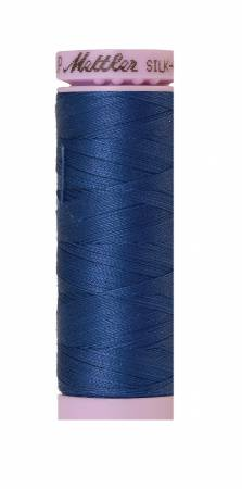 Silk Finish Solid Cotton - Steel Blue