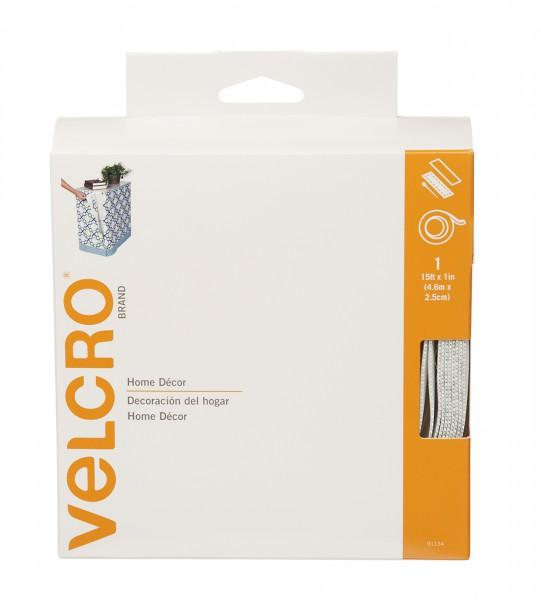 Velcro brand Home Decor White 1in x 15ft