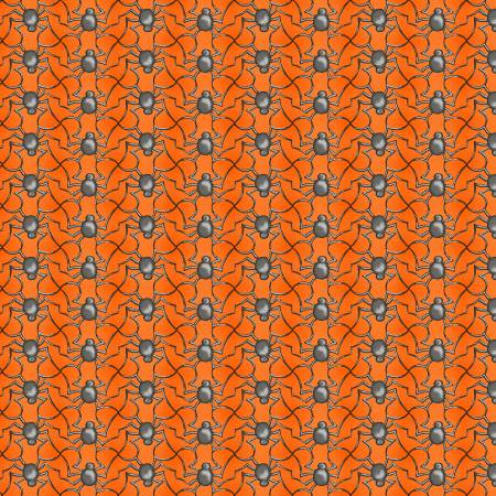 Spooky Town Metallic Orange Spiders by Henry Glass