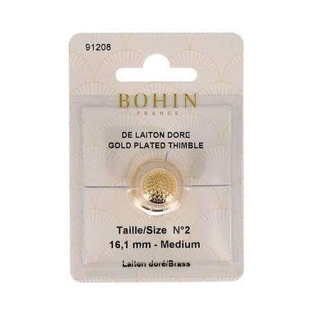 Gold Plated Brass Thimble Medium