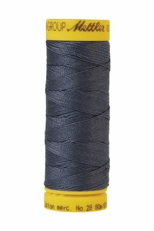 Silk-Finish 28wt Solid Cotton Thread 81YD Blue Shadow