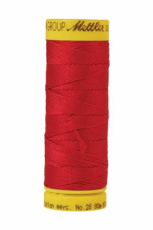 Silk-Finish 28wt Solid Cotton Thread 81YD Country Red
