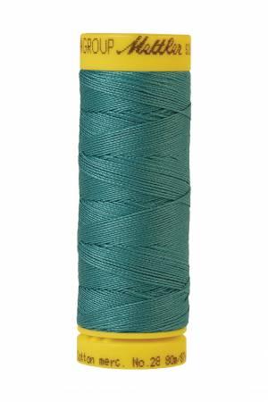 Silk-Finish 28wt Solid Cotton Thread 81YD Blue-green Opal