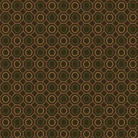 HG OCTOBER MORNING Brown Dotted Hexies 9130-33
