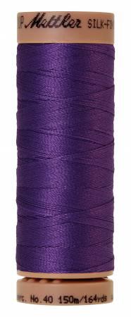 Mettler Silk-Finish 40wt Solid Cotton Thread 164yd/150M 30 Iris Blue