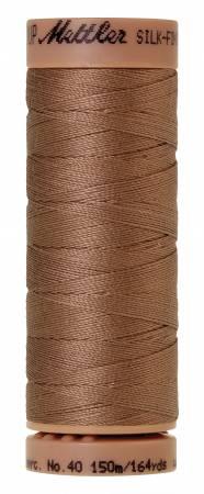 Mettler Silk-Finish 40wt Solid Cotton Thread 164yd/150M 280 Walnut