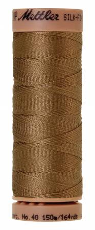 Mettler Silk-Finish 40wt Solid Cotton Thread 164yd/150M 287 Dark Tan