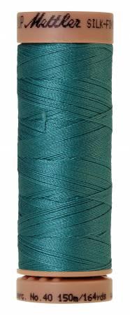 Silk-Finish 40wt Solid Cotton Thread 164yd/150M Blue-green Opal