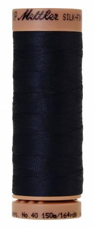 Silk-Finish 40wt Solid Cotton Thread 164yd/150M Dark Blue
