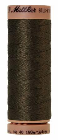 Mettler Silk-Finish 40wt Solid Cotton Thread 164yd/150M Olive 1043