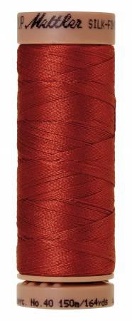 Mettler Silk-Finish 40wt Solid Cotton Thread 164yd/150M 1074 Brick
