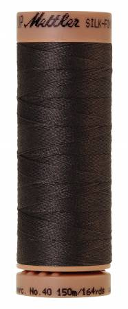 Mettler Silk-Finish 40wt Solid Cotton Thread 164yd/150M 1282 Charcoal