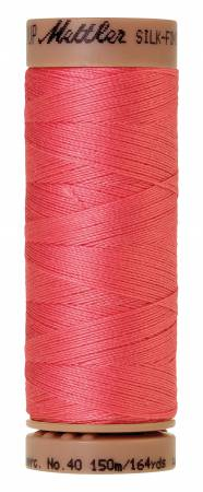 Mettler Silk-Finish 40wt Solid Cotton Thread 164yd/150M 1402 Persimmon