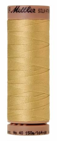 Mettler Silk-Finish 40wt Solid Cotton Thread 164yd/150M 1412 Lemon Frost