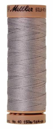 Silk-Finish 40wt Solid Cotton Thread 164yd/150M Ash