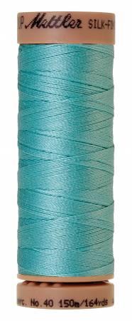 Mettler Silk-Finish 40wt Solid Cotton Thread 164yd/150M Blue Curacao 2792