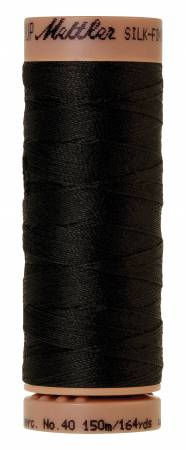 Silk-Finish 40wt Solid Cotton Thread 164yd/150M Black