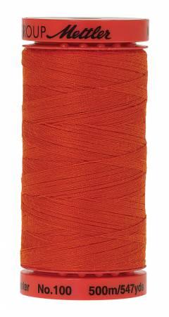 0450 Paprika LARGE Metrosene Poly Thread 50wt 500m/547yds  Mettler