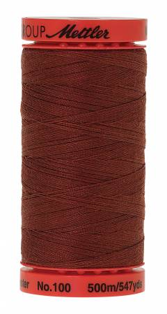 Metrosene Poly Thread 50wt 500m/547yds Foxy Red Old Number 1145-0728