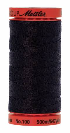 Mettler Metrosene 0821 Darkest Blue 100% Poly Thread 50wt 500m/547yds