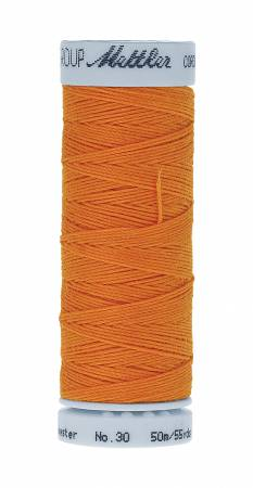 Metrosene Cordonnet Poly Thread 30wt 50m/55yds Pumpkin Old Number 1146-0829