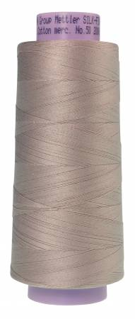 Mettler 319 Silk Finish 50wt Cotton Thread 2000yd/1829M Cloud Gray